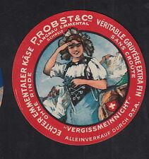 Ancienne  étiquette Fromage  Suisse BN10300 Emmental Femme