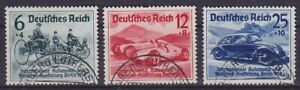 German Reich Mi No. 686 - 688, Clean Stamped, Iaa 1939, Used