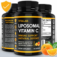 Liposomal Vitamin C 1000mg Capsules High Absorption Vitamin C Pills Supplements
