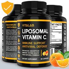 Liposomal Vitamin C 1000mg Capsules High Absorption Vitamin C Pills Supplements