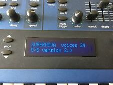 Novation Supernova II 2 Synthétiseur 5-Octave Keyboard or Rack OS 2 EPROM