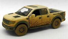 Ford F150 SVT Raptor - Muddy - White - Kinsmart Pull Back & Go Metal Model Car