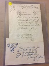 1904, Order For Dentistry, Cocaine, Menthol, Alcohol Vintage Dentist Letter E40