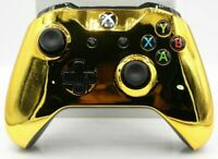Microsoft Xbox One/S/X Bluetooth Modded Controller w/Chrome Gold Face Plate