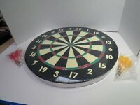 "Accudart Competition 2-in-1 Dartboard Game Set 18"" Diameter New In Box"