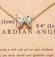 Magick Angel guardian wings protection and good luck Necklace
