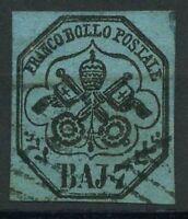 Kirchenstaat 1852 Sass. 8 Gestempelt 100% Cardillo signiert 7b.