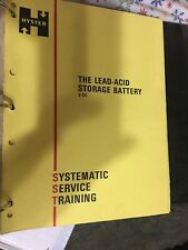 Hyster The Lead-Acid Storage Battery E-3C