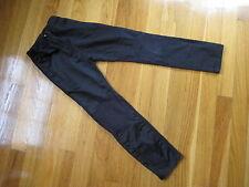 Eliane et Lena Paris girls BLACK PANTS leggings 6 satin rocker jeans hipster 6A