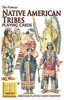 Native Américain Tribus Ensemble de 52 Jouer Cartes + Jokers ( Hpc )