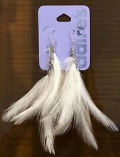 Claires Claire's Earrings White Feather Gorgeous Jewellery RRP £5