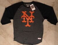 New York Mets Raglan 3/4 Sleeve Cooperstown T-shirt Mitchell & Ness MLB