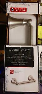 Delta 73250 Brilliance Stainless Woodhurst Pivoting Double Post Tissue Holder