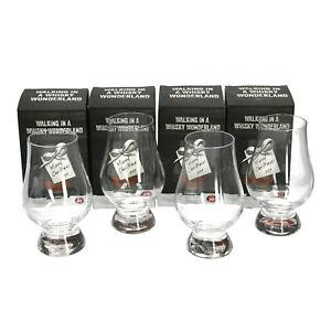 """4 x Glencairn Nosing Tasting Glass Christmas """"Walking In A Whisky Wonderland"""" Bo"""