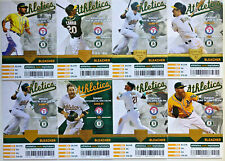 2011-2012-2013-2014-2015-2016 Oakland Athletics Season Ticket Stubs - Mint!