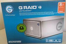 ** G-RAID G-TECHNOLOGY 8TB Thunderbolt USB 3 Esterno Disco Rigido Backup AZIENDALE *