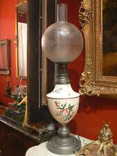 antica grande lampada ceramica di l'est messico e stagno globe vetro fiore