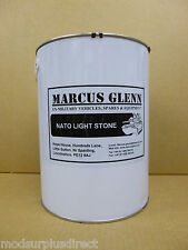 Military Vehicle NATO Light Stone Paint 5 Litres, EggShell Finish - High Quality