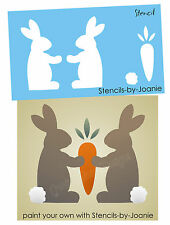 Stencil Spring Primitive Bunny Carrot Topper Seasonal Holiday Easter Craft Block