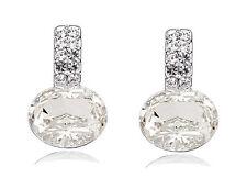 elegante e stile BIANCO CRISTALLO STRASS bottone da sposa MATRIMONI orecchini