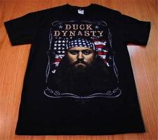 NEW DUCK DYNASTY WILLIE BLACK T-SHIRT MENS WOMANS M FRUIT OF THE LOOM COTTON
