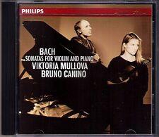 Viktoria MULLOVA: JS CPE BACH Violinsonaten BRUNO CANINO CD Carl Philipp Emanuel