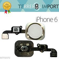 Flex Boton Home Touch ID Blanco Dorado Champan iPhone 6 / 6 Plus