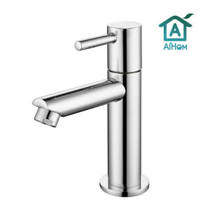 Chrom Kaltwasser Standventil Armatur Waschtischarmatur Wasserhahn Bad Gäste WC