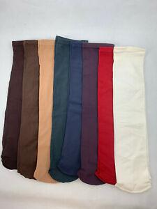 8 pr SAMPLES Nylon Knee-high Moisture-Wicking Boot/Trouser Socks - 6 color pack