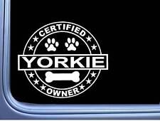 "Certified Yorkie L322 Dog Sticker 6"" decal"