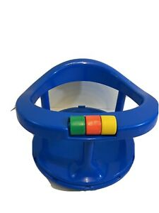 Vintage 1989 Safety 1st First Baby Bath Tub Seat Swivel Ring Sucton Cups Blue