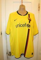 NIKE Barcelona Barca Soccer Away Third Jersey Yellow Men XXL 2008/09 286787-760