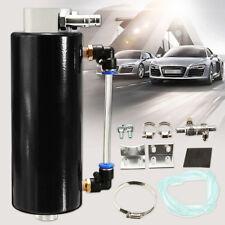 Universal Rally Race Oil Catch Tank/CAN Reservoir Turbo Billet Black Round Car