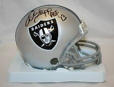 Warren Sapp HOF Autographed Oakland Raiders Mini Helmet- JSA Authenticated