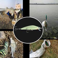 Minnow Night Plastic Fishing Lure Crank Bait Hooks Bass Fish Crankbait Tackle 3D