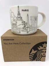 Starbucks Paris France Mug You Are Here YAH Christmas Gold Cup Holidays 2016