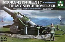 Takom 1/35 #2018 WWII Skoda 42cm M.1917 Heavy Siege Howitzer Erich von Manstein