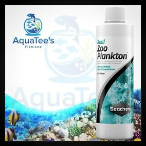 Seachem Reef Zooplankton 250ml Concentrated Blend of Marine Zooplankton Fish
