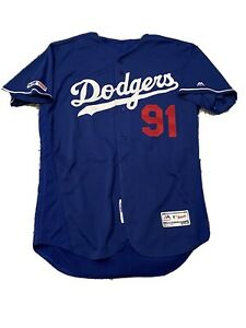 MLB Authenticated - Dodgers Batting Practice Jersey Issued To Chad Chop