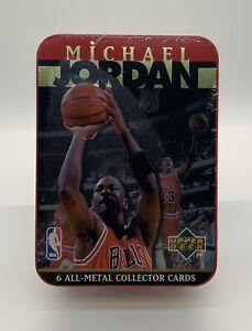 1996 Upper Deck Michael Jordan 6 Collector Cards Tin SEALED NEW UNOPENED