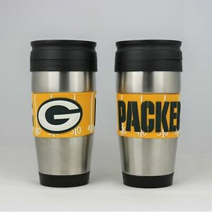 Green Bay Packers NFL Officially Licensed 15oz Stainless Steel Tumbler w/ PVC Wr