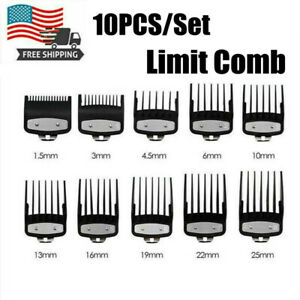 10 Pcs/Set For Wahl Pro Cutting Hair Clipper Limit Combs Premium Guides Guards