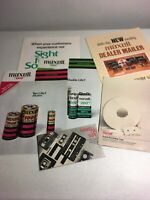 Vintage Ephemera Lot Maxell Casette Tape & Battery Sales Brochures 1970's 1980's