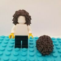Lego New Dark Brown Minifigure Hair Bowl Cut Parted in Center Wig Piece D13