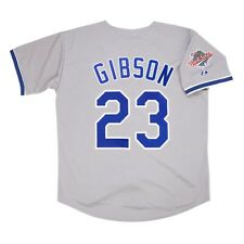 Kirk Gibson 1988 Los Angeles Dodgers World Series Grey Road Jersey Men's Large