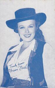 NOREEN  NASH - hollywood WESTERN cowgirl FILM star 1920s arcade/exhibit card
