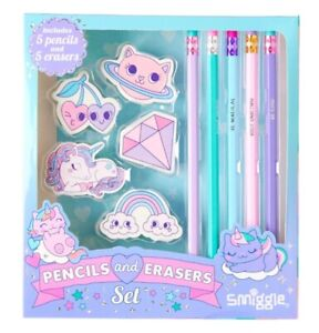 Smiggle Pencil And Erasers Set Gift Box | NEW