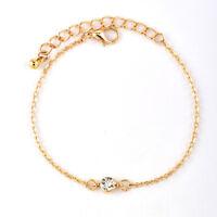 Fashion 4Pcs Simple Leaf Knot Bracelet Adjustable Open Bangle Women Jewelry HO3