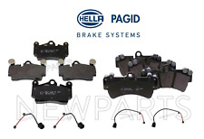 For Audi Q7 Touareg Rear & Front Disc Brake Pad Set Hella Pagid OEM+Sensors KIT