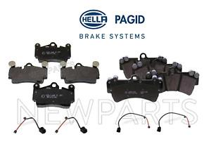 For Audi Q7 Touareg Rear & Front Disc Brake Pad Set Hella Pagid OEM+Sensors KIT